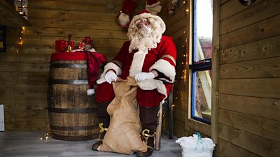 Santa is getting ready for a Covid safe Christmas