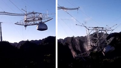 Arecibo telescope collapse