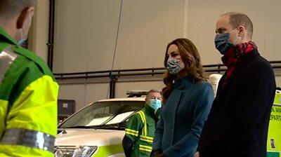 Duke and Duchess of Cambridge meet Scottish ambulance staff