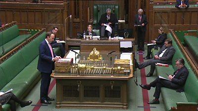Matt Hancock in the Commons