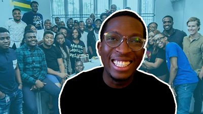 A composite Shola Akinlade and the Paystack team