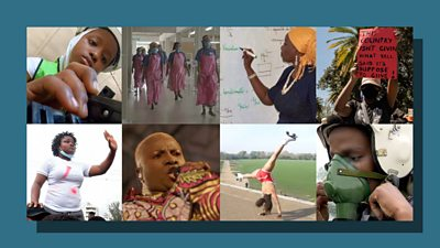 Collage of African women 2020