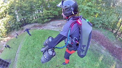 Richard Browning on his jetpack