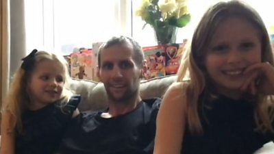 Rob Burrow and his daughters