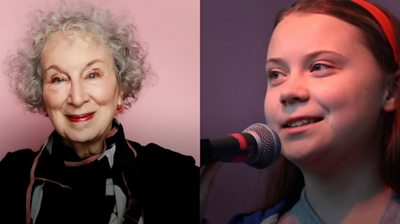 Margaret Atwood and Greta Thunberg