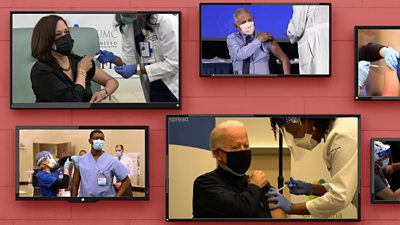 Joe Biden, Kamala Harris and Dr Anthony Fauci all received their Covid-19 vaccines live on TV. Why?