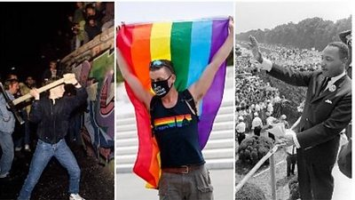 Protesters at different demonstrations