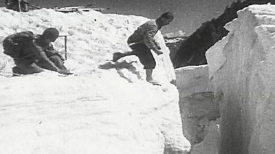 Man on Mount Blanc