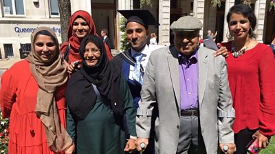 Ahsan-ul-Haq Chaudry and his family