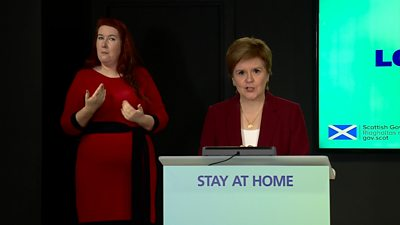 Scotland's first minister said coronavirus rules mean only essential travel is allowed.