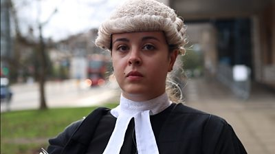 The BBC meets two young lawyers who share their concerns about the future of their profession.