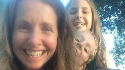 Sarah Bingham's son and daughter have the same rare illness and she is a donor match for both.