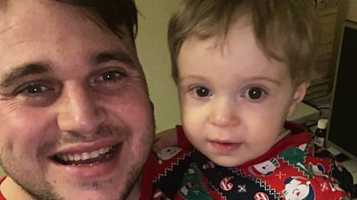 One-year-old Max can't have both parents by his hospital bedside due to Covid-19 restrictions.