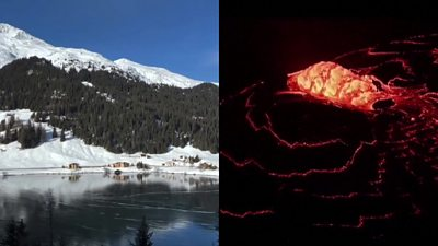ICYMI: A 'singing' lake and a lava fountain