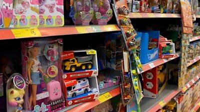 Toys in supermarket
