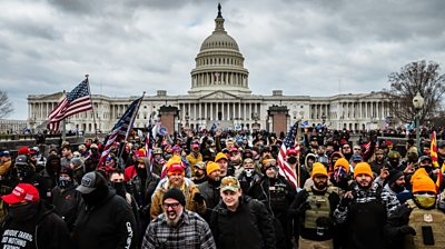 Rioters in Washington DC