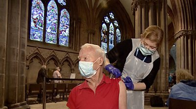 In the Middle Ages, Lichfield Cathedral was a pilgrimage for the sick - now it's become a vaccination centre.