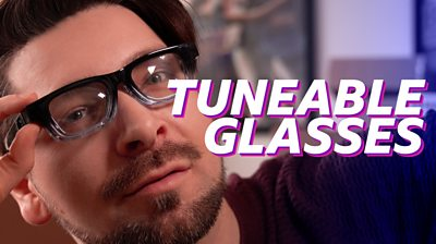 Chris Fox wearing tuneable glasses