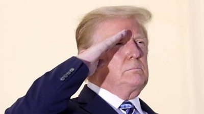 Donald Trump saluting