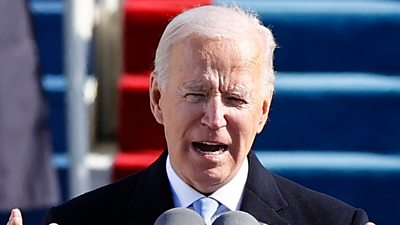 Joe Biden makes his inaugural address as the 46th president of the United States.