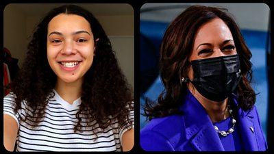 Howard students' joy as Kamala Harris makes history