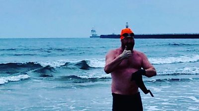 Leroy Arkley is tackling the North Sea without a wetsuit in aid of a Sunderland charity.