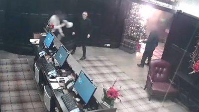 CCTV of fire
