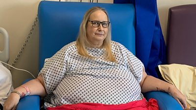 A 56-year-old Covid patient says she is finally recovering after a month in hospital.