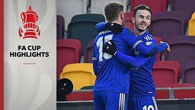 Highlights: Brentford 1-3 Leicester City