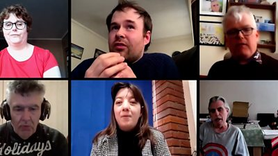 six people on zoom call