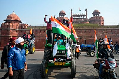 Farmers at India Gate