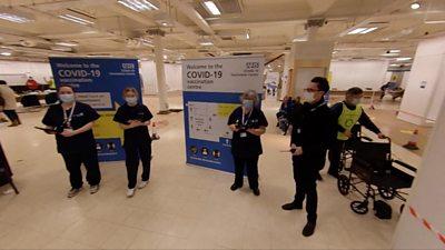 Covid-19 vaccination centre in Folkestone