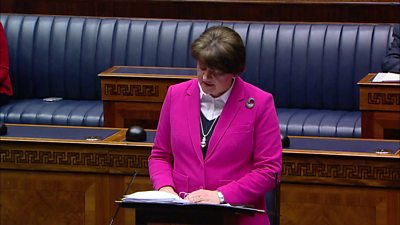 Arlene Foster speaking in NI Assembly