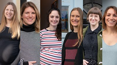 Composite of six pregnant women