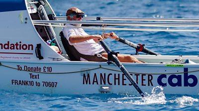 Frank Rothwell rowing boat