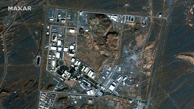 Satellite image of Natanz nuclear plant, taken October 2020