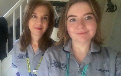 Mum Tracy and daughter Sarah