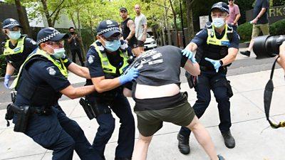 Anti-vaccination protesters rally in Australia