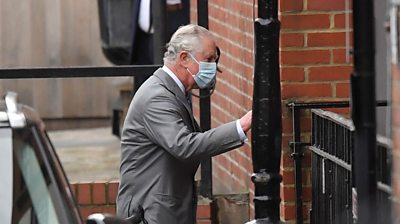 Prince Charles arrives at hospital
