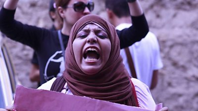 Hend Nafea during the demonstrations at Tahrir Square