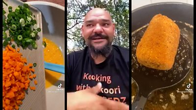 Nathan Lyons split screen with his cooking videos