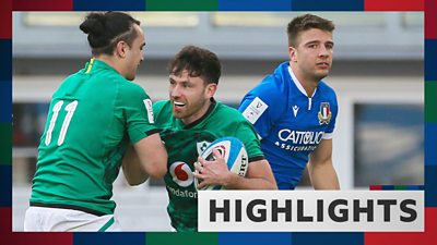 Highlights: Ireland run in six tries against Italy in Six Nations