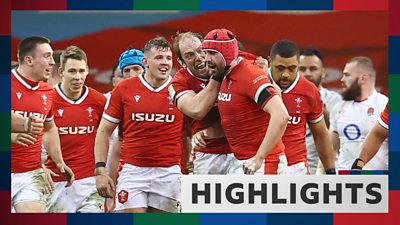 Wales v England highlights