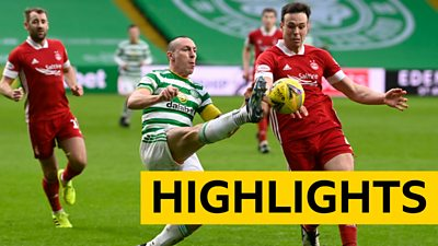 Highlights of Scottish Premiership match between Celtic and Aberdeen.