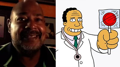 Kevin Richardson is the first black actor to voice Dr Julius Hibbert on the television comedy.