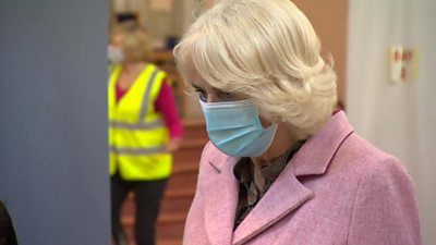 The Duchess of Cornwall gave an update on Philip's condition during a visit to a vaccination centre.