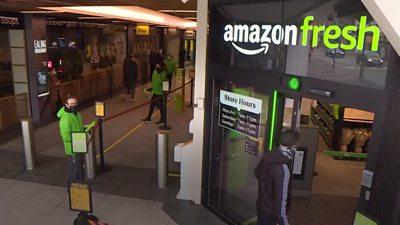 Amazon Fresh grocery store in London