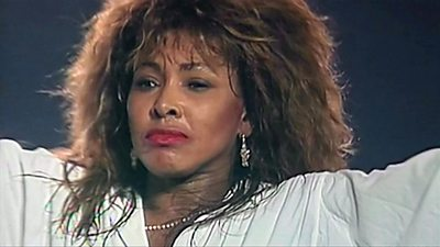 Archive footage of Tina Turner performing in a new documentary called Tina