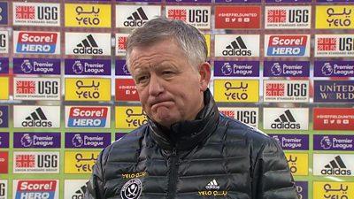"""Sheff Utd 0-2 Southampton: Sheff United manager Chris Wilder says side """"lacked quality"""""""