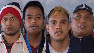 Kiribati sailors